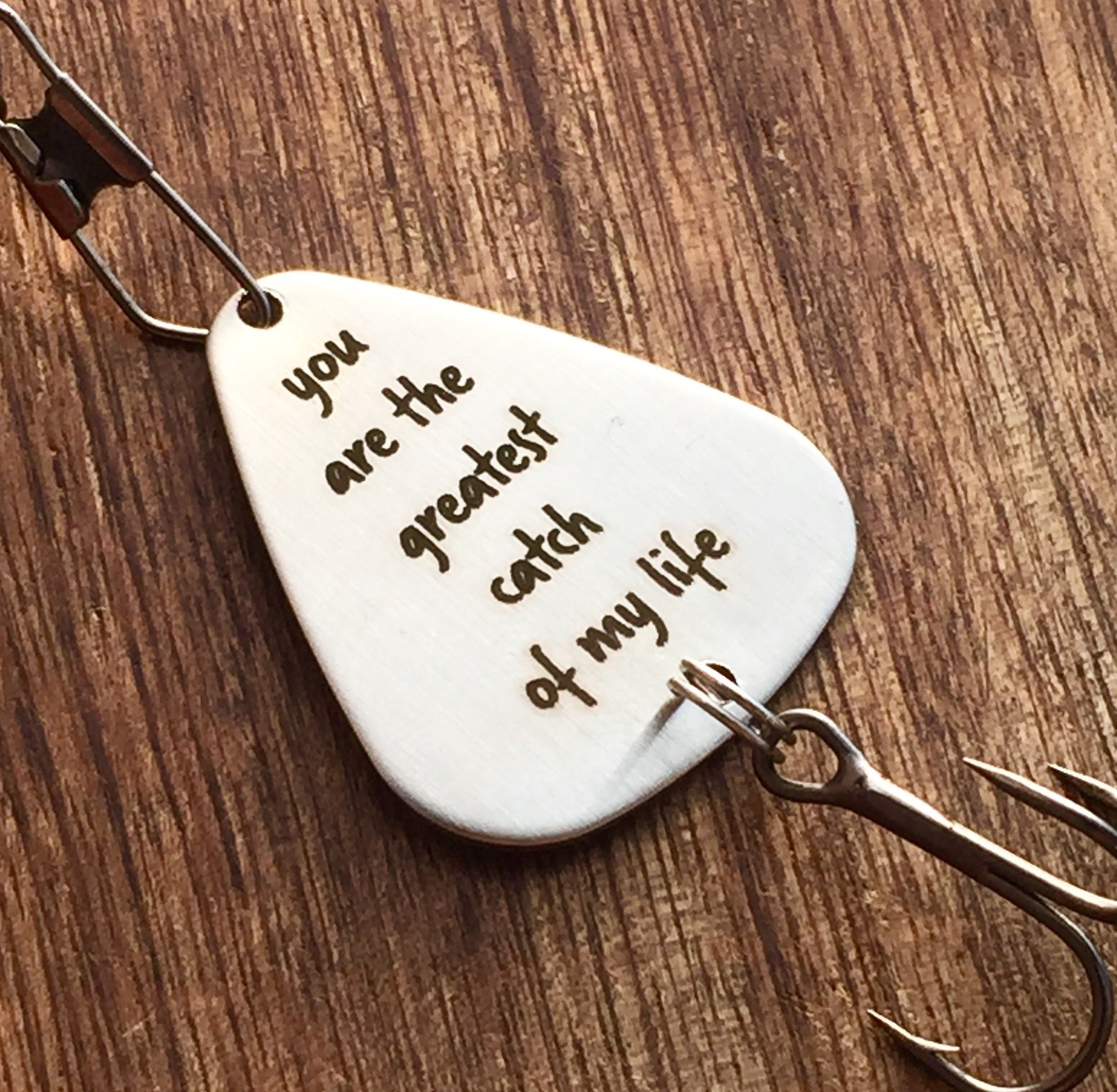 10 Wonderful Personalized Gift Ideas For Him you are the greatest catch of my life fishing lure fishing lures 2020