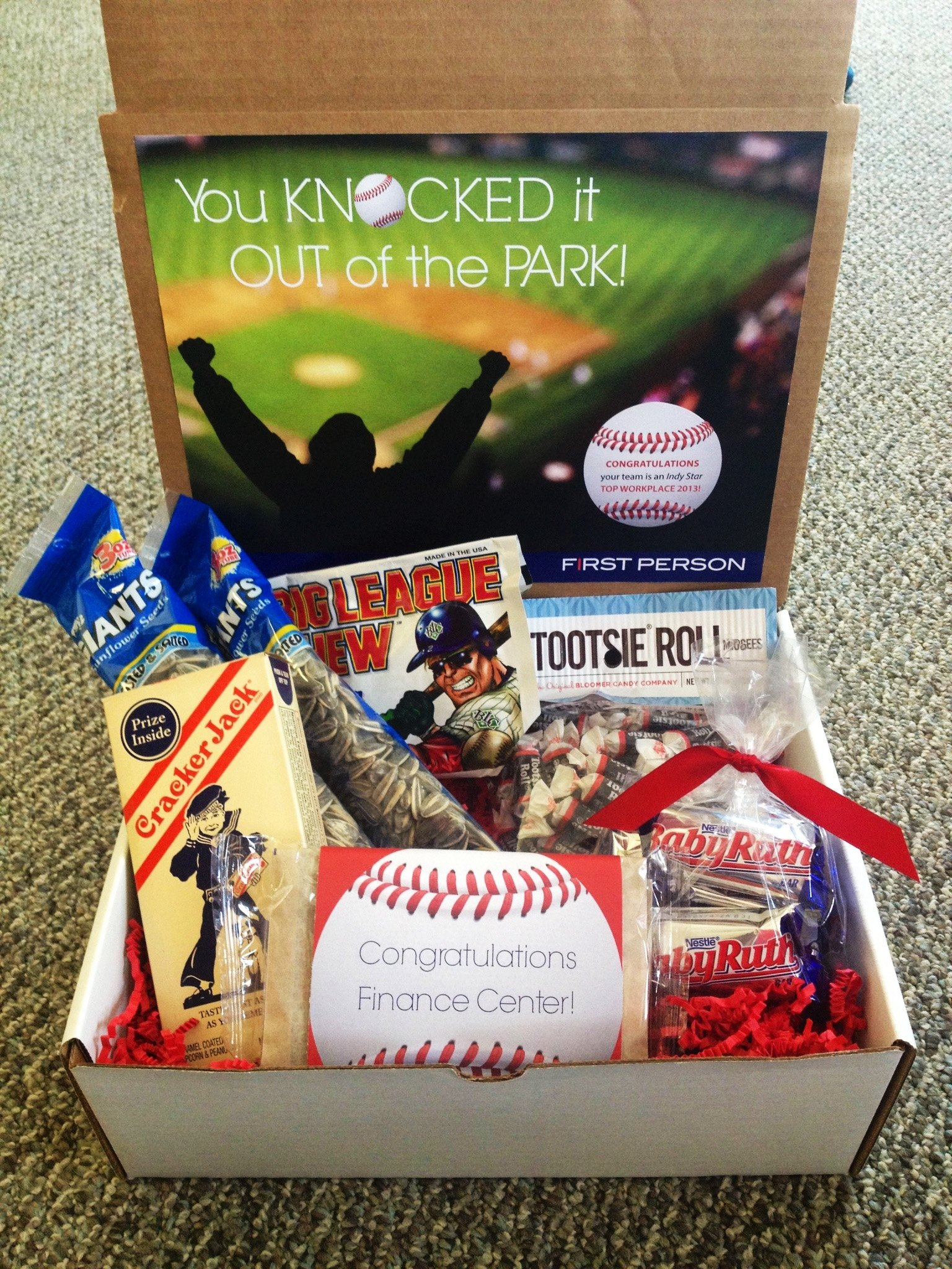10 Best Christmas Gift Ideas For Clients you knocked it out of the park baseball themed gift box cracker 2021