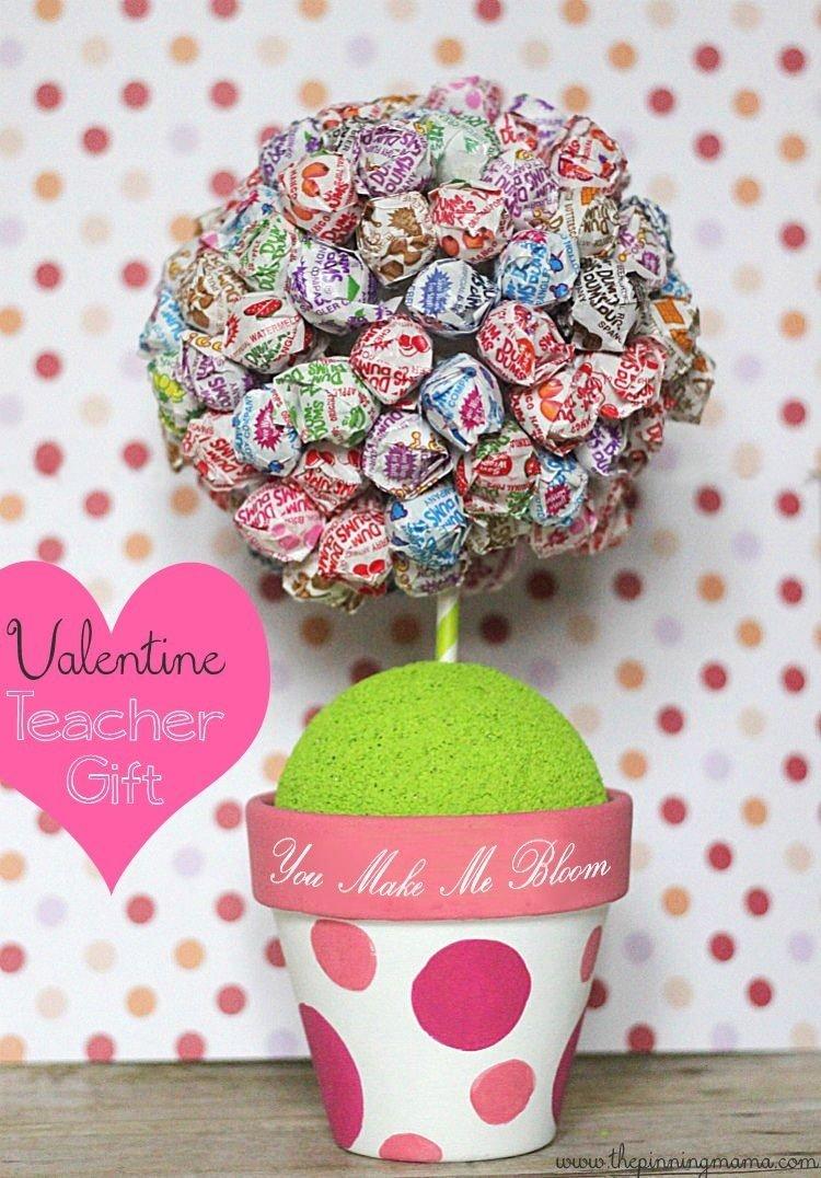 10 Pretty Valentine Gift Ideas For Teachers you make me bloom teacher valentinethe pinning mama plaidcrafts 2021