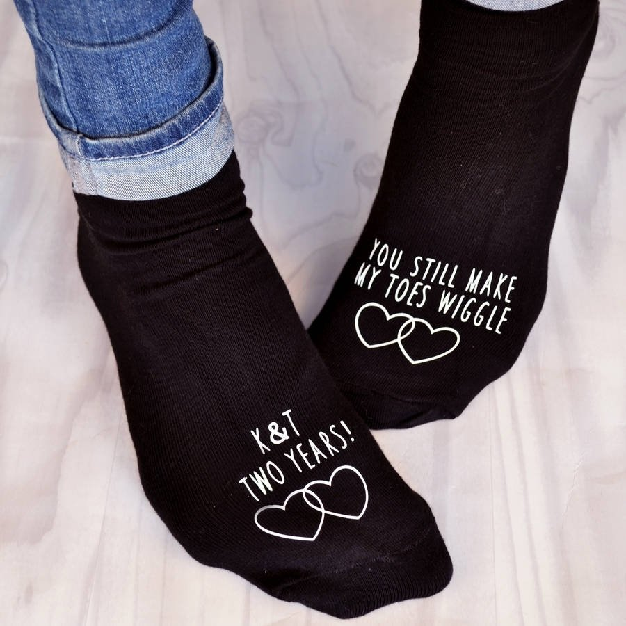 10 Cute 2Nd Wedding Anniversary Gift Ideas For Her you make my toes wiggle anniversary sockssolesmith 5 2020