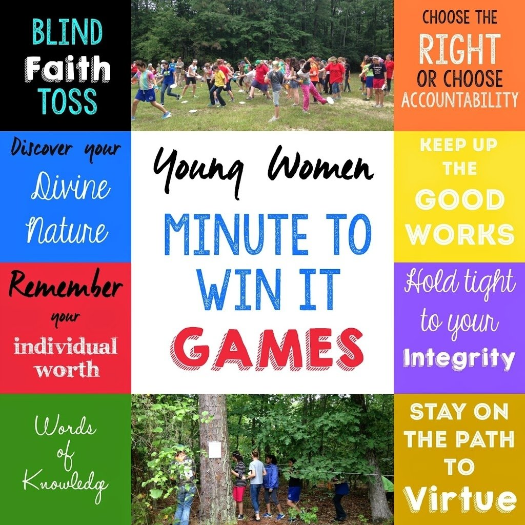 young women's activity idea: yw value minute to win it games - play