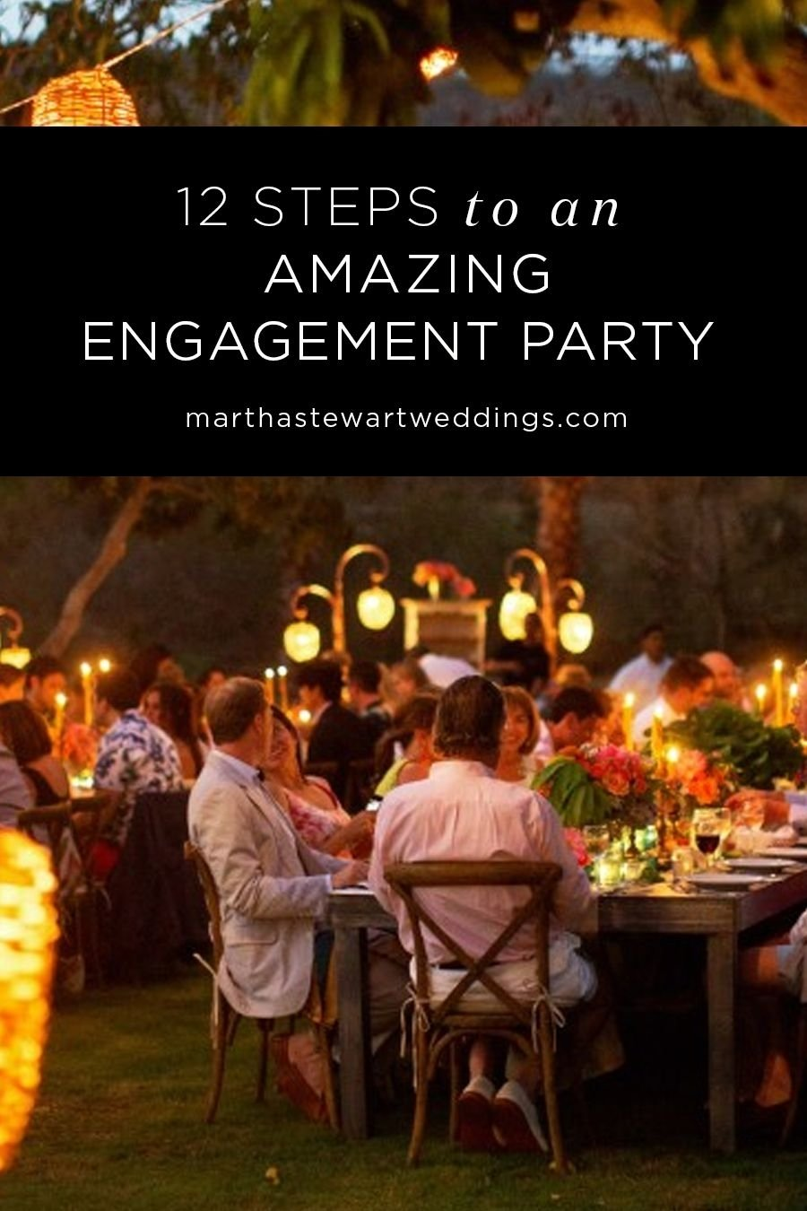 your engagement party checklist | pre party, martha stewart weddings