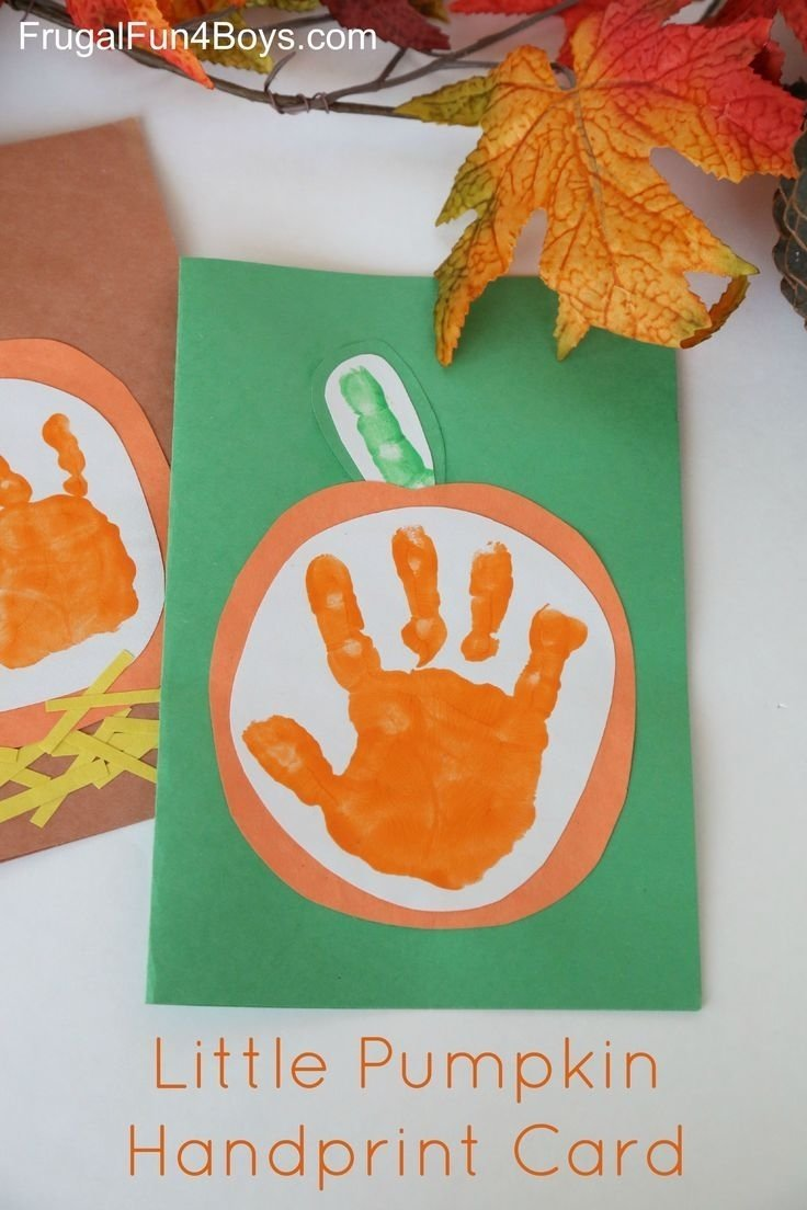 10 Stylish Halloween Craft Ideas For Toddlers your little pumpkin handprint card for kids to make keepsakes 2020