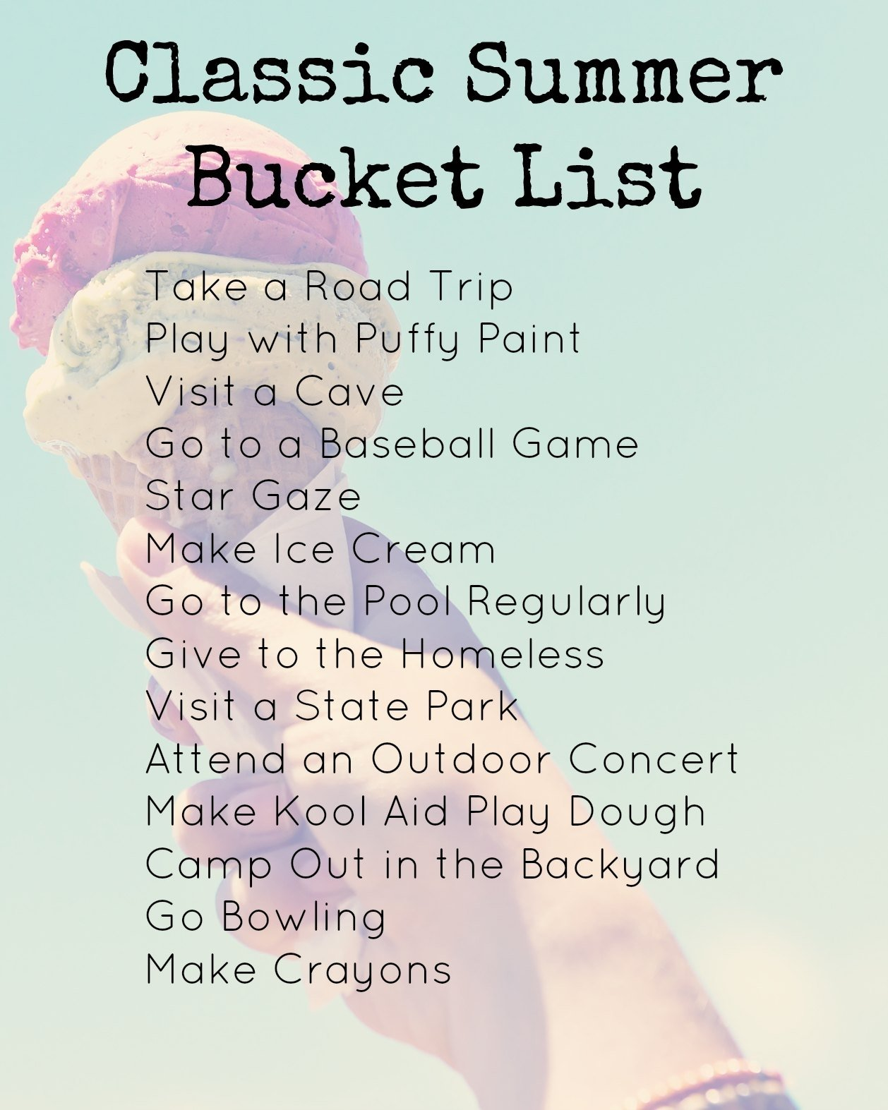 10 Most Popular Crazy Bucket List Ideas For Teenagers your summer bucket list and remembering the summer fun creative 4 2021