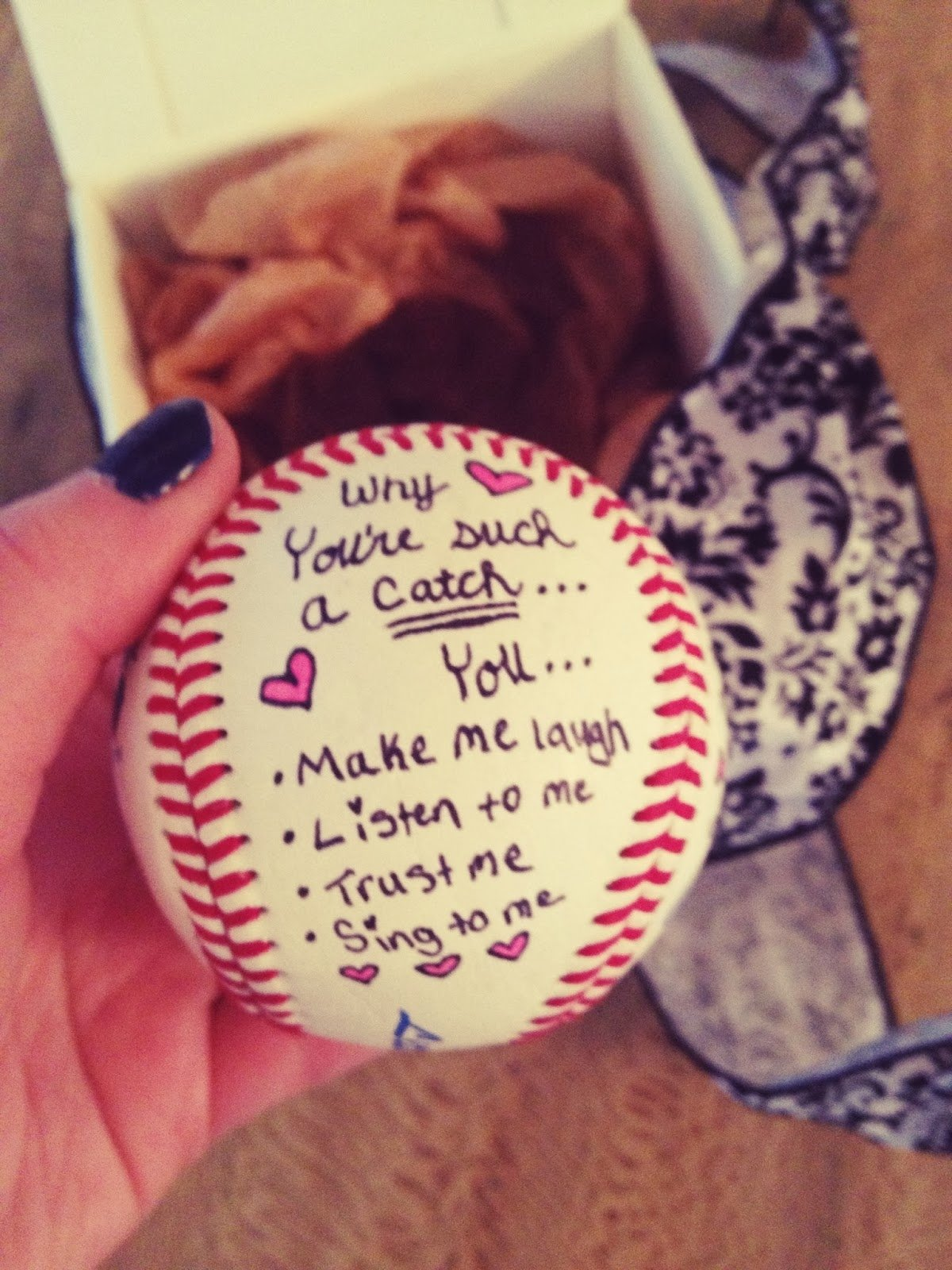 10 Lovable Romantic Birthday Gift Ideas Boyfriend Youre Such A Catch Baseball Diy For Him