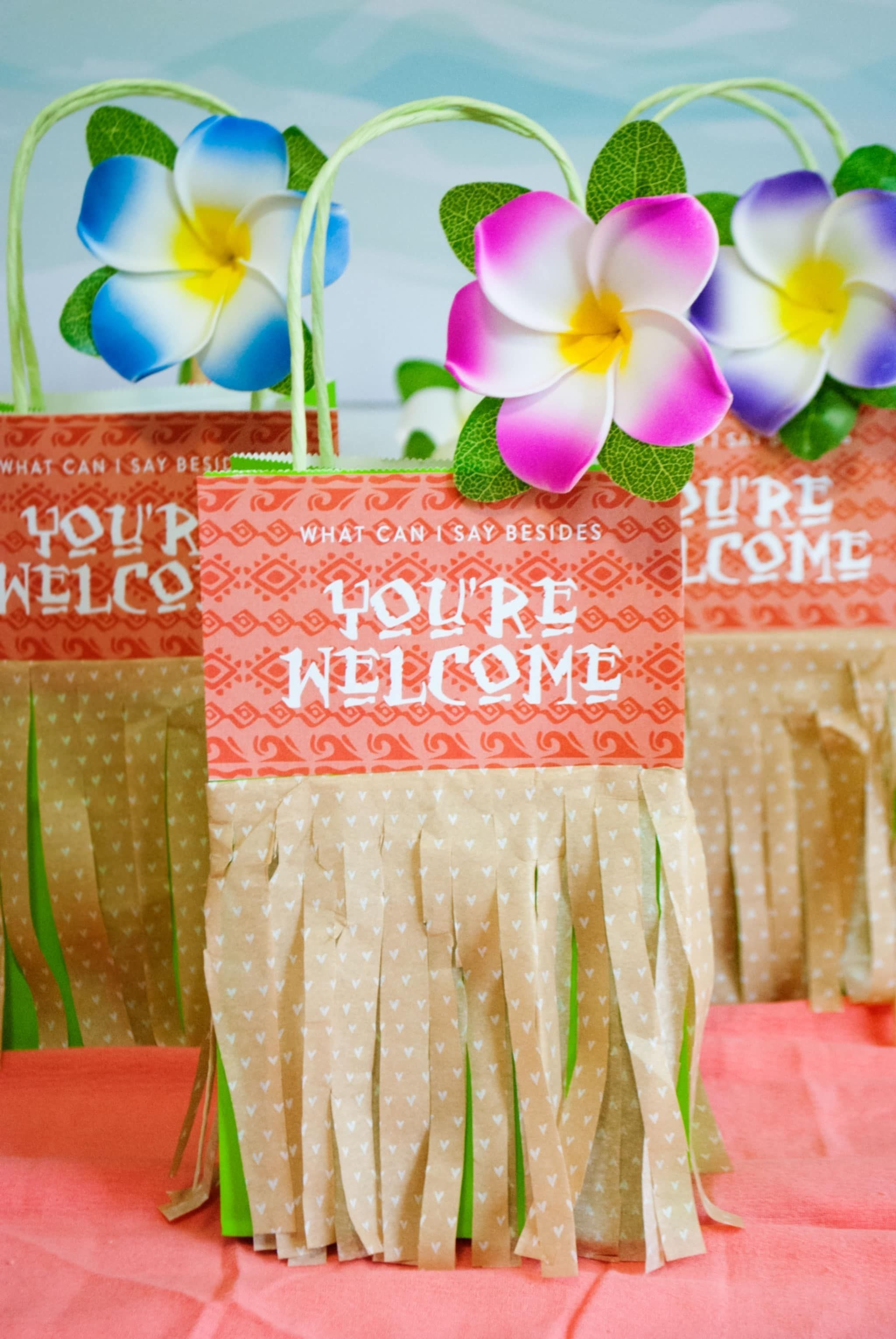 10 Unique Pool Party Gift Bag Ideas youre welcome in advance for these moana birthday party ideas