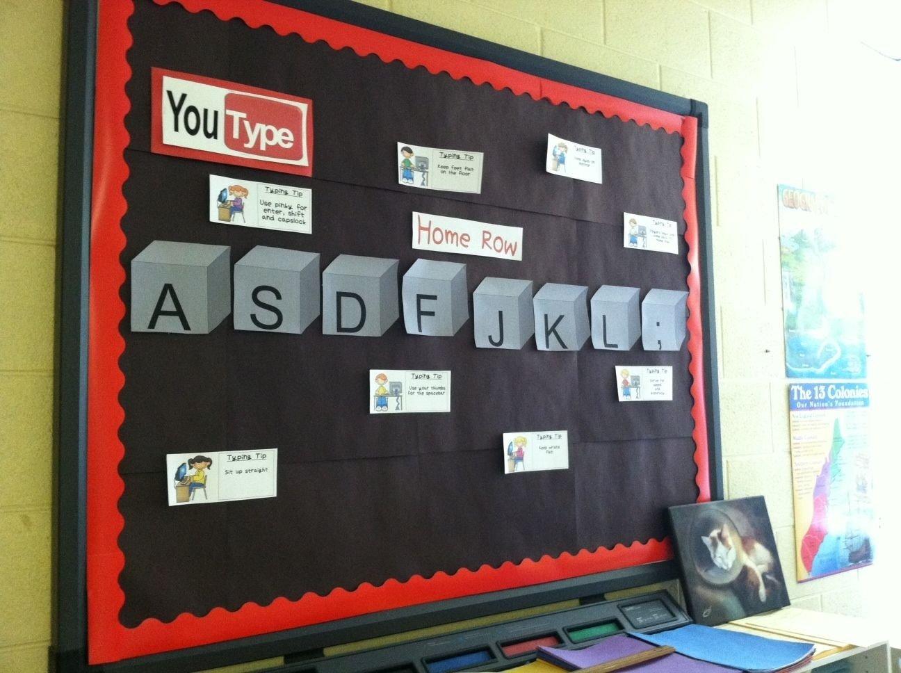 10 Stylish Technology In The Classroom Ideas youtype bulletin board typing keyboarding technology education 2020