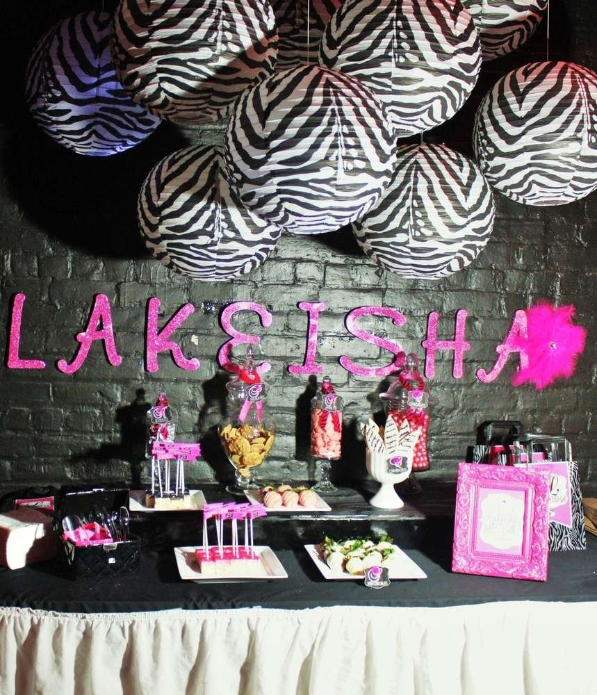 10 Beautiful Pink And Black Birthday Party Ideas zebra hot pink birthday party ideas photo 1 of 24 catch my party 1 2020