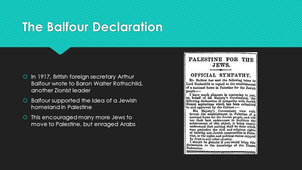 10 Fantastic The Balfour Declaration Of 1917 Supported The Idea Of A zionism beginnings ef829a before world war i the british and french 2020