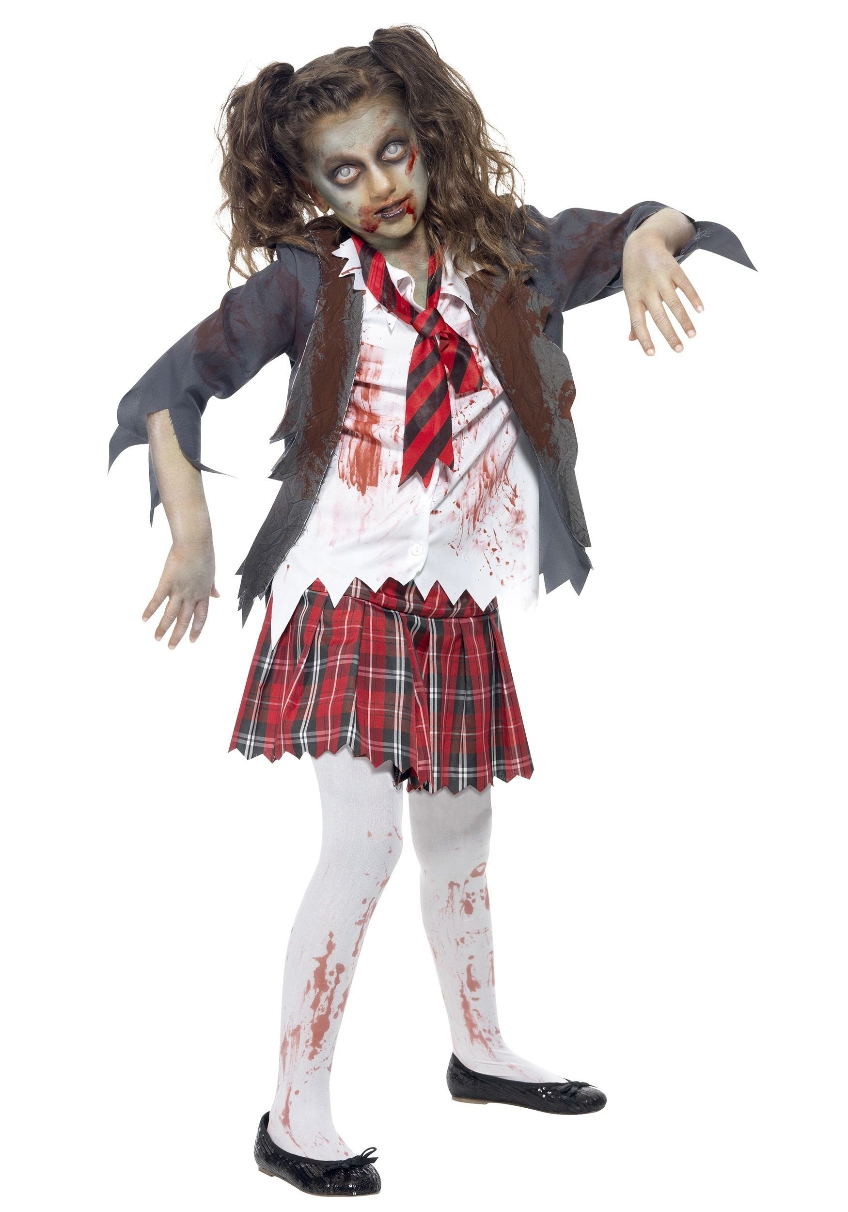 10 Fashionable Scary Costume Ideas For Girls zombie costume ideas for kids kids zombie school girl costume 2