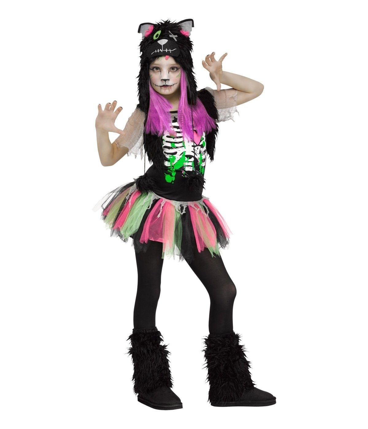 10 Attractive Zombie Costume Ideas For Kids zombie kitty cat girls costume cat girl costume and costumes 2021