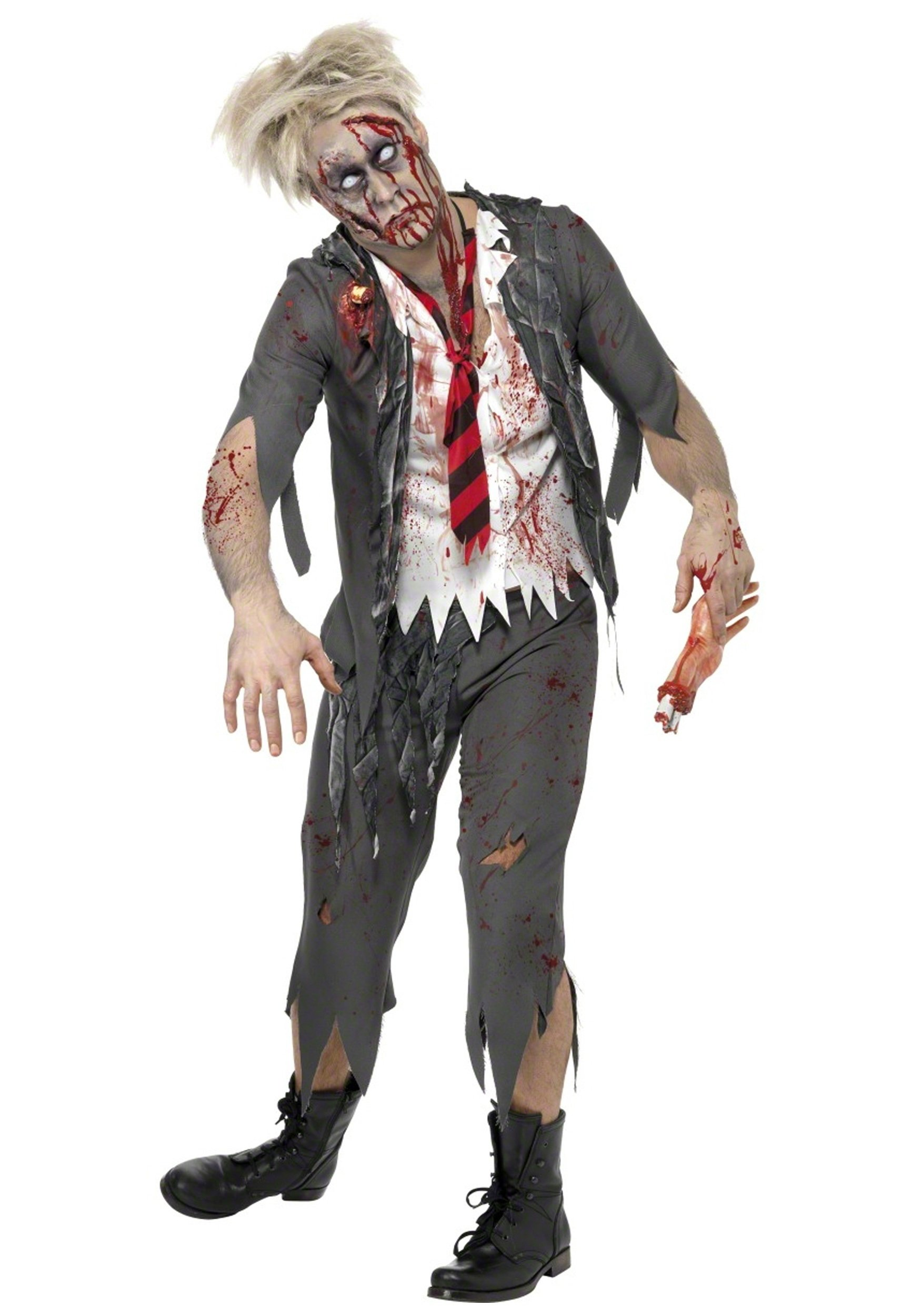 10 Fashionable Zombie Costume Ideas For Men zombie school boy costume 2020