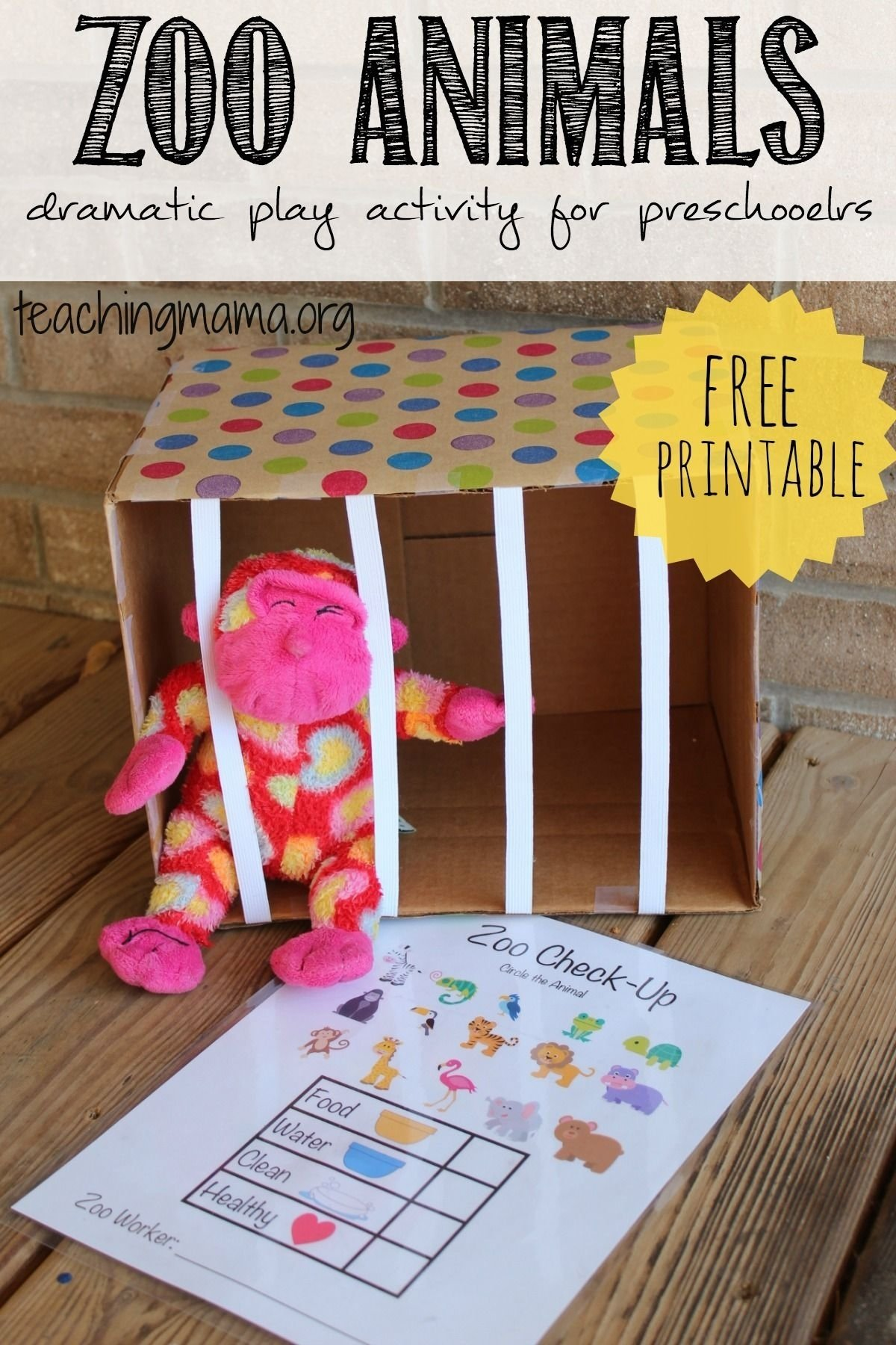 10 Lovely Dramatic Play Ideas For Preschoolers zoo animals dramatic play activity dramatic play zoos and free