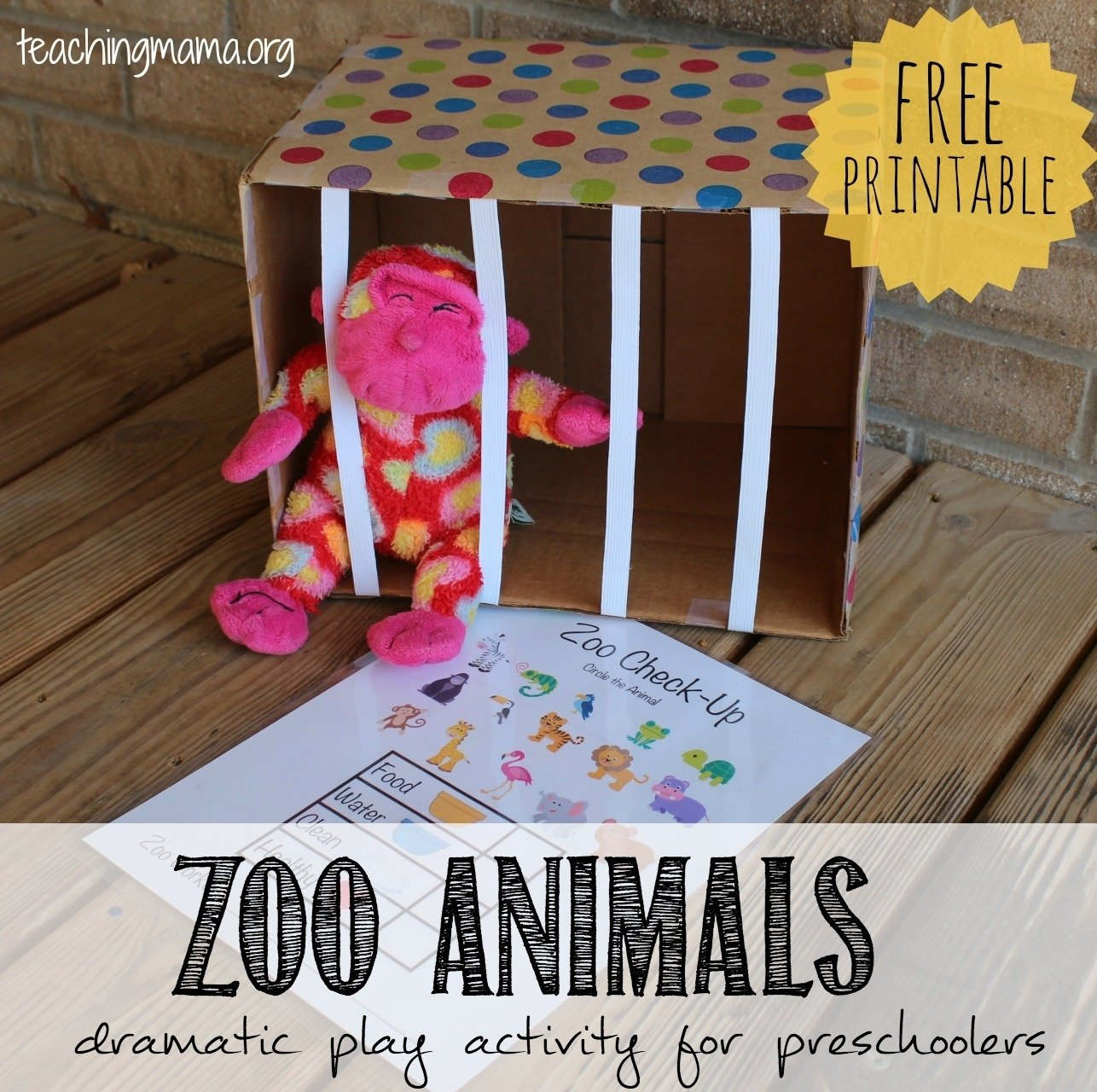 10 Lovely Dramatic Play Ideas For Preschoolers zoo animals dramatic play activity teaching mama 2