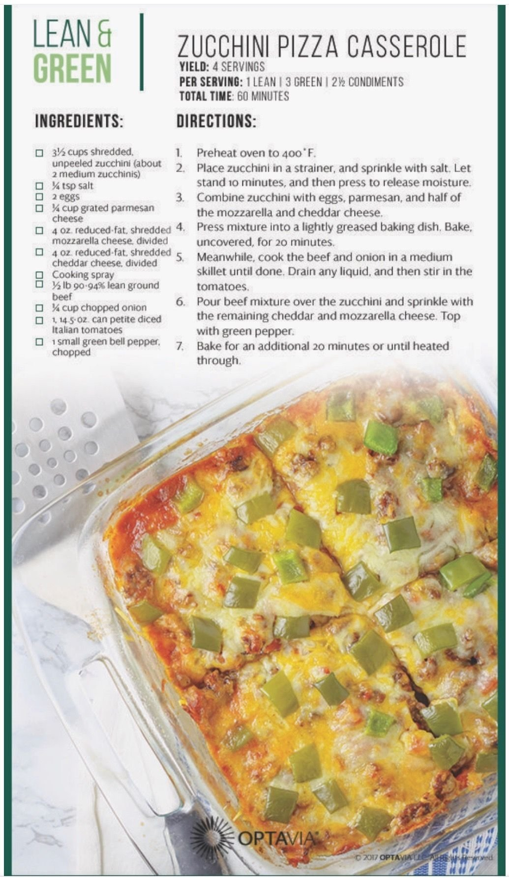 10 Trendy Medifast Lean And Green Meal Ideas zucchini pizza casserole letss eat optavia and lean green 2021